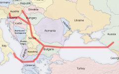 Вероятный маршрут газопровода. Изображение с сайта wikimedia.org
