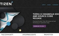 Скриншот сайта tizen.org