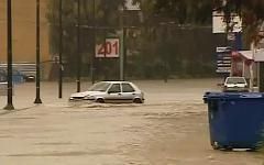 Наводнение в Афинах. Стоп-кадр с видео в YouTube
