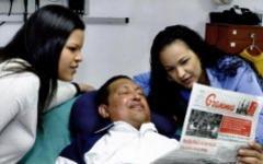 Уго Чавес с дочерьми. Фото с сайта chavez.org.ve