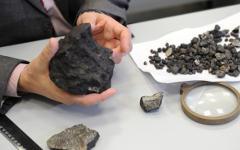 Образцы осколков метеорита © РИА Новости, Павел Лисицын