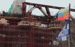 """Строительство стадиона """"Зенит-арена"""" © РИА Новости, Игорь Руссак"""