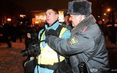 Задержание журналиста на Пушкинской площади 5 марта. © Антон Белицкий/Ridus.ru
