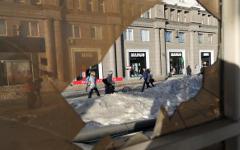 Последствия падения метеорита в Челябинске © РИА Новости, Павел Лисицын
