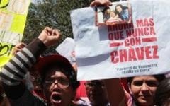 Демонстранты. Фото с сайта chavez.org.ve