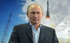 Владимир Путин во время сеанса видеосвязи с МКС. Фото с сайта президент.рф