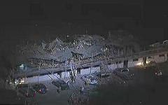 Разрушенные дома в Техасе. Кадр телеканала NBC