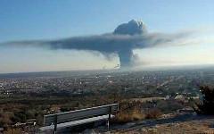 Взрыв в Техасе. Фото пользователя Twitter @PopeSloth