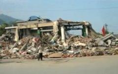 Последствия землетрясения в Китае. Стоп-кадр с видео YouTube