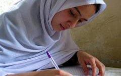 Афганская школьница. Фото с сайта tolonews.com