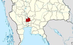 Провинция Аюттхая на карте Thailand location map