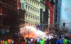 Взрывы в Бостоне. Кадр телеканала CBS