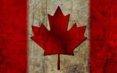 Флаг Канады. Фото с сайта fon.at.ua