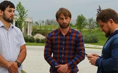 Бекхан Ибрагимов (по центру). Фото из Instagram Рамзана Кадырова