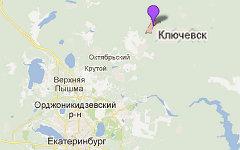 Ключевск. Изображение сервиса Google Maps