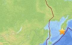 Эпицентр землетрясения. Изображение с сайта usgs.gov
