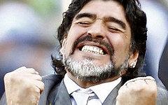 Диего Марадона. Фото с сайта diegomaradona.com