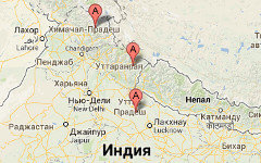 Места наводнений на карте. Изображение сервиса Google Maps