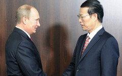 Владимир Путин и Чжан Гаоли. Фото с сайта kremlin.ru