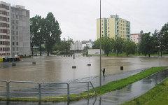Наводнение в Праге. Фото пользователя Твиттер @OndrejKofron