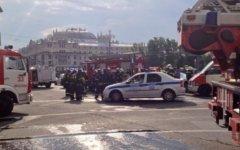 Эвакуация со ст.м.«Охотный ряд». Фото пользователя Твиттер @Ira_VB