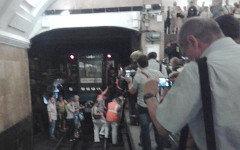 Эвакуация со ст.м.«Охотный ряд». Фото пользователя Твиттер @alteravoce