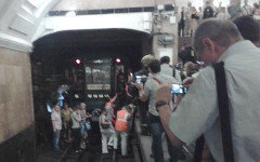 Эвакуация со станции «Охотный Ряд». Фото пользователя Твиттер @alteravoce