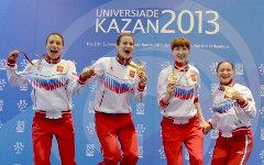 Золотые призеры Универсиады © РИА Новости, Валерий Мельников