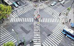 Диагональный пешеходный переход. Фото с сайта seti.ee