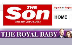 Скриншот сайта британской газеты The Sun