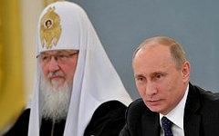 Патриарх Кирилл и Владимир Путин. Фото с сайта kremlin.ru