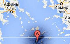 Санторини на карте. Изображение сервиса Google Maps
