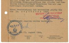 Фрагмент документа Шиндлера. Фото с сайта rrauction.com