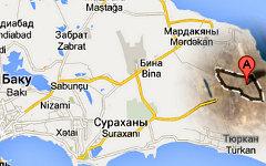 Поселок Дюбенди на карте. Изображение сервиса Google Maps