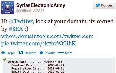 Скриншот сообщения о взломе Твиттера