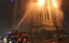 Тушение пожара в «Грозный-Сити». Фото с сайта mchs.gov.ru
