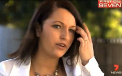 Стефани Банистер. Кадр авcтралийского канала 7 News