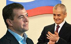 Дмитрий Медведев и Геннадий Онищенко. Коллаж © KM.RU