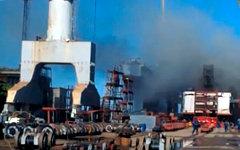 Пожар на атомной подлодке «Томск». Стоп-кадр с видео в YouTube