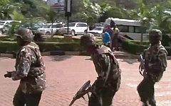 Спецназ на месте происшествия. Стоп-кадр с видео в YouTube