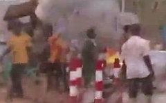 Беспорядки в Судане. Стоп-кадр с видео в YouTube