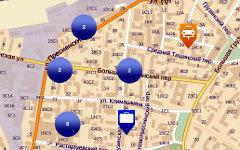 Пример карты из раздела «Что за стройка рядом с моим домом?» на сайте stroi.mos.
