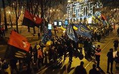 Шествие сторонников «Свободы». Фото пользователя Facebook Олександр Аронец