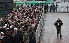 Очередь к Дарам волхвов © РИА Новости, Максим Блинов