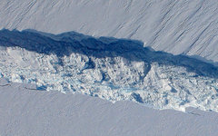 Ледник Пайн-Айленд. Фото с сайта nasa.gov