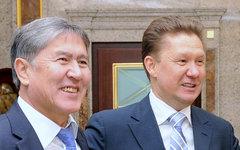 Президент Киргизии Алмазбек Атамбаев и Алексей Миллер. Фото с сайта gazprom.ru