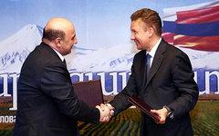 Армен Мовсисян и Алексей Миллер. Фото с сайта gazprom.ru