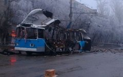 Взорванный волгоградский троллейбус № 15. Фото с сайта sledcom.ru