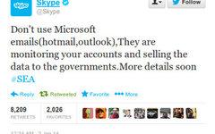 Скриншот взломанного Твиттера компании Skype