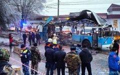 Последствия взрыва троллейбуса в Волгограде. Фото пользователя Instagram ulianov